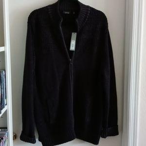 NWT Apt 9 Men's Zippered  Sweater Jacket